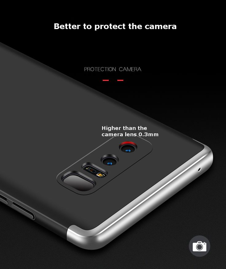 Bakeey™ 3 in 1 Double Dip 360° Protection Hard PC Case for Samsung Galaxy Note 8