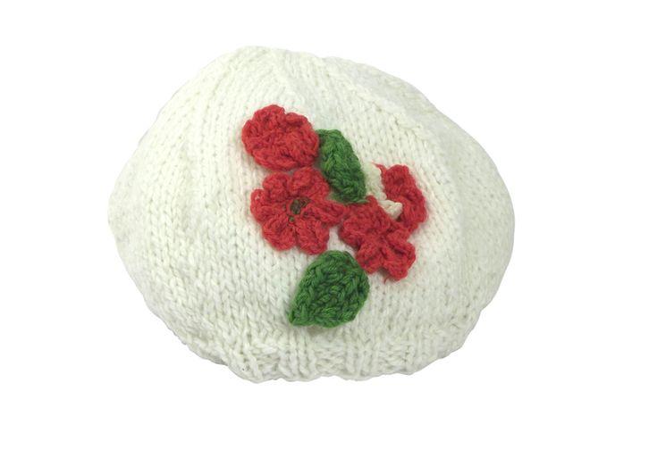 RED RED FLOWER - beret with flowers from betulek by DaWanda.com  #hat #baby #babyhat #crochet #knit #knitproject #yarn #yarnaddict #yarnstash #yarnlife #handmadewithlove  #yarnlove #yarnstagram #knithat #knitbeanie #cozyknits #trendy #giftideas #gift #beauty #fashion #style #handmade #buyhandmade #betulek #bybetulek #look