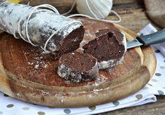 Salame pan di stelle e nutella un dolce senza cottura e senza uova nell'impasto facile e veloce!Un dolce da preparare anche in anticipo e tenere in frigo