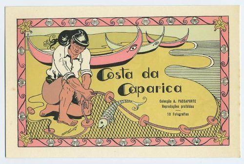 Vintage postcard Costa da Caparica Portugal