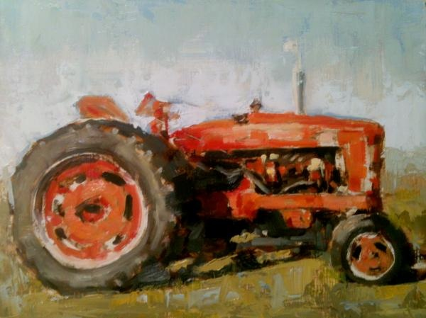 Farmall Tractor Painting : Top ideas about my paintings vintage transportation