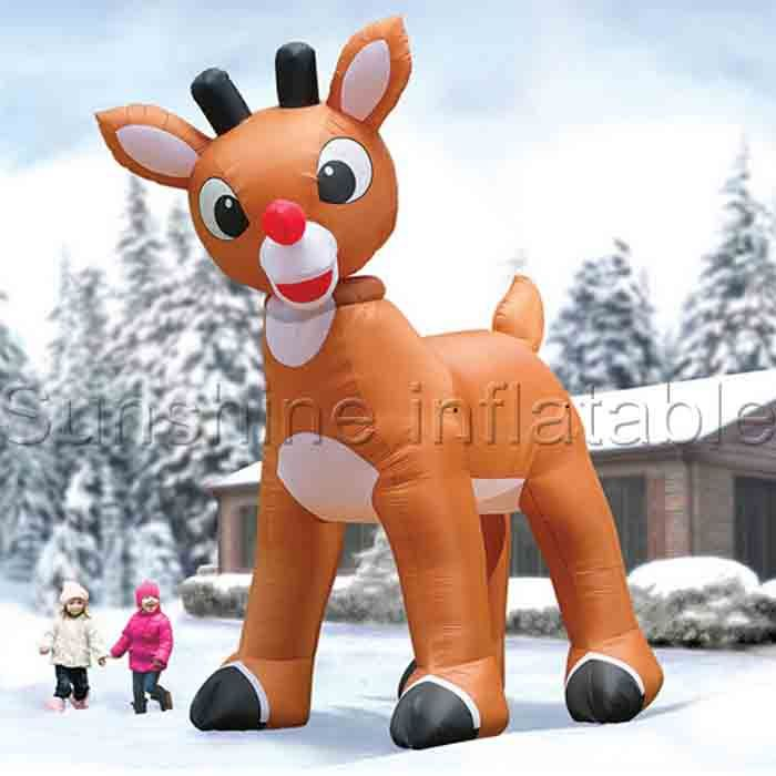 Click To Buy U003cu003c 3m Giant Lovely Inflatable Christmas Deer Decorations  Christmas Inflatables