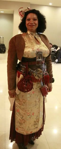 Dorothy Winterman's Asian-influenced Steampunk outfit by Luisa Ana Fuentes.