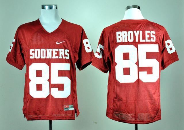 Men's NCAA Oklahoma Sooners #85 Ryan Bryoles Red Jersey
