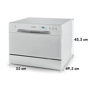 Amazonia 6 lave-vaisselle de table A+ 1380W 6 couverts 49 dB argent 299 €