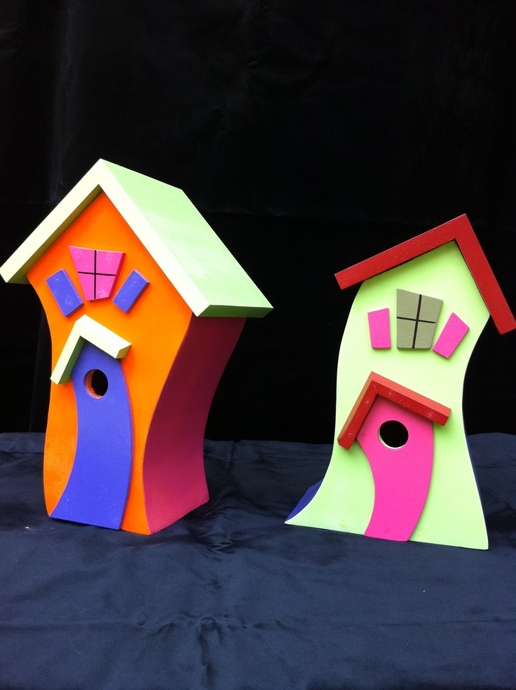 The Dr Seuss Inspired Bird Houses My Husband And I Made