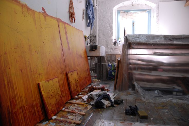 Work in progress.. my studio at Backwater Artists Group, Cork, Ireland