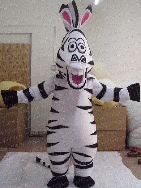 ==> [Free Shipping] Buy Best Animal Zebra Mascot Costume Madagascar Zebra Marty Mascot Costume Cartoon Character Mascotte Outfit Suit Fancy Dress Online with LOWEST Price   32631132034