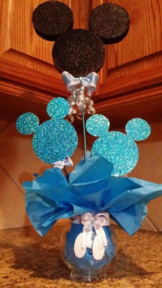 25 best ideas about mickey mouse centerpiece on pinterest for Baby mickey decoration ideas