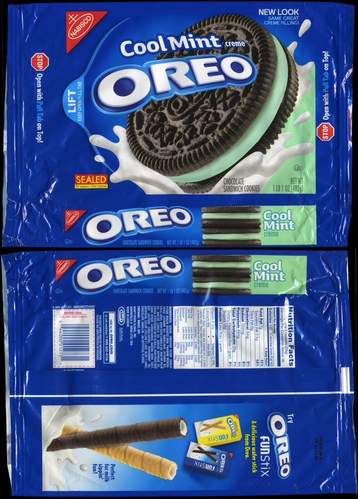 Nabisco - Oreo Cool Mint Creme cookie package - 2009 | Flickr