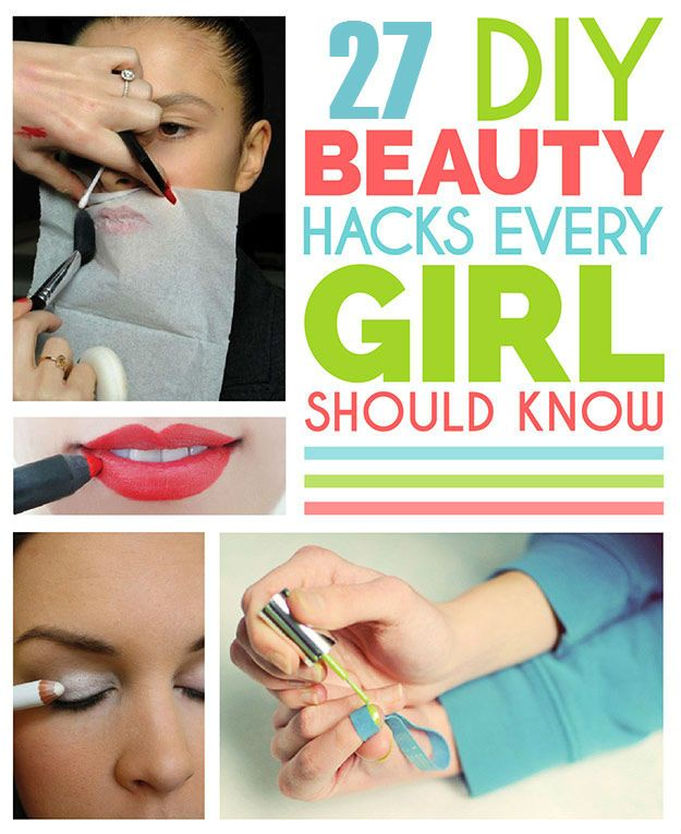 27 DIY Beauty Hacks | http://www.iluvdiyideas.com/27-diy-beauty-hacks/