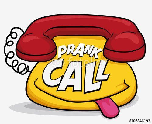 Funny Cartoon Phone for April Fools' Call Prank