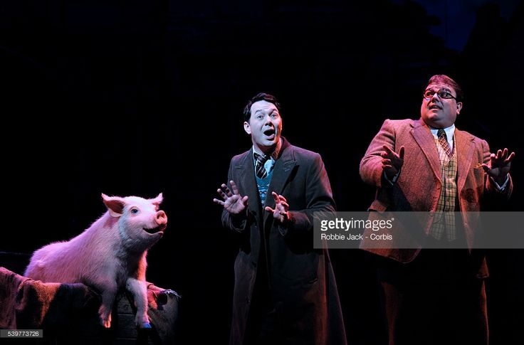 Reece Shearsmith as Gilbert Chilvers and Jack Edwards as Henry Allardyce in the production 'Betty Blue Eyes' directed by Richard Eyre at the Novello Theatre in London.