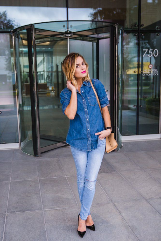 Denim on Denim | Date Night look | Chambray Look | Uptown With Elly Brown @charmingcharlie