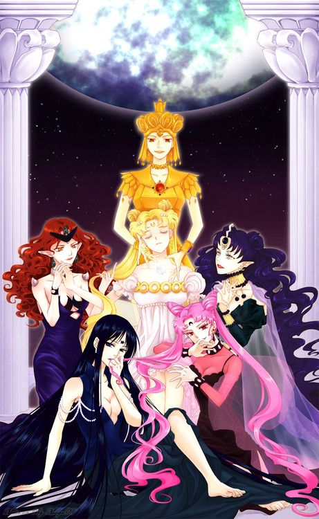 Queen Beryl, Mistress 9, Black Lady, Queen Nehelenia, Sailor Galaxia, and Moon Princess ^_^