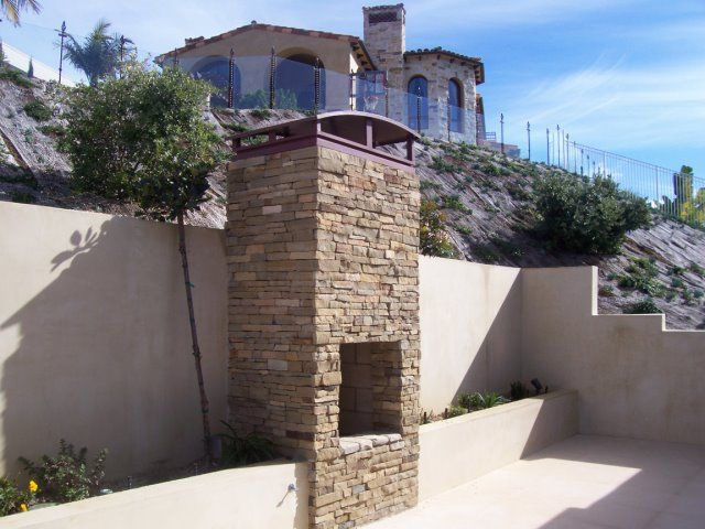 stucco retaining wall pictures   Landscape offers installation and distribution services of ...