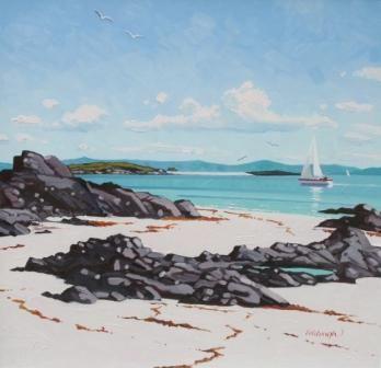 North Beach, Iona by Scottish Contemporary Artist Frank Colclough