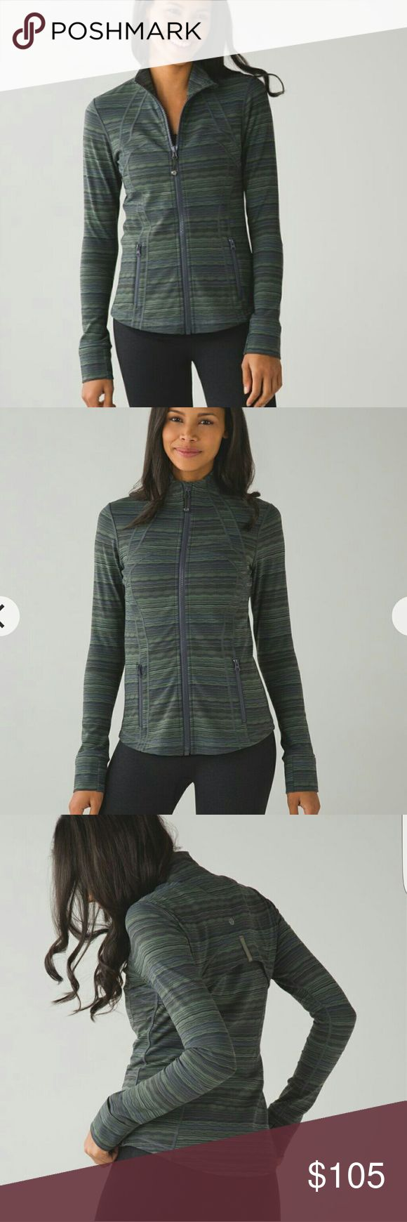 NWT Lululemon Fatigue Green Stripe Define Jacket 4 Condition:Brand new with tags Color code:Sdsf,fatg,slte Color:Fatigue,olive,sage,army, military,slate,grey,gray,silver Pattern: Wavy striped,Space Dye,Cyber Stripes Closure:Full zip up Material:Luon Style:Fitted Offers:Price on here is firm,less with ???? Trades: Open to other lulu of equal value Notes:Similar to forme lululemon athletica Jackets & Coats