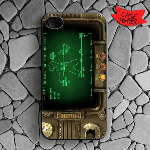 Fallout Pipboy Rainmeter iPhone 4 iPhone 4S Black Case
