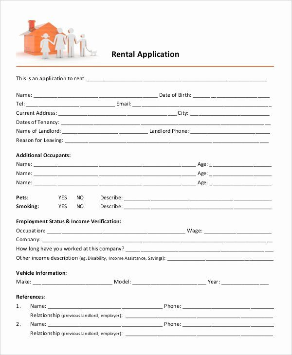 Rental Application Form Template Awesome 17 Printable Rental Application Templates In 2020 Rental Application Application Form Application