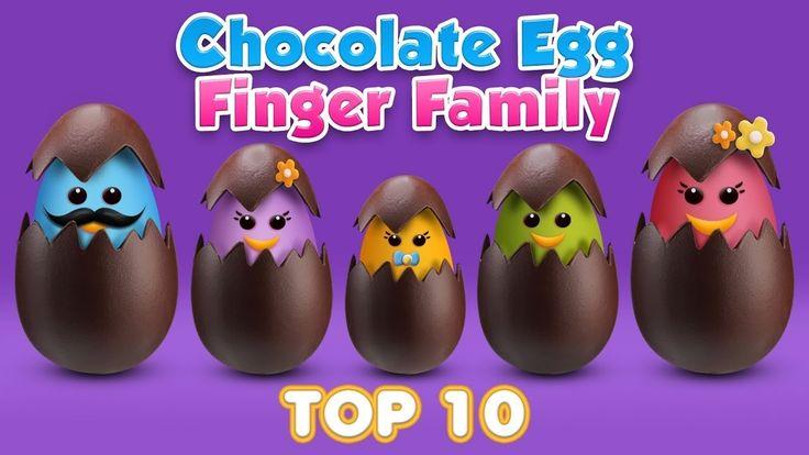 Chocolate Egg Finger Family Rhyme - Top 10 Easter Finger Family Songs - ...