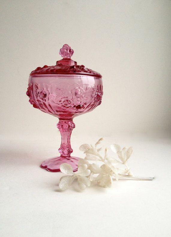 Pink vintage glass