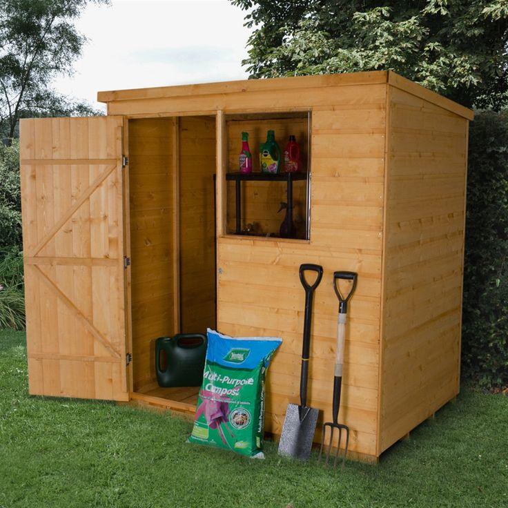 Forest Garden 6 x 4 Shiplap Wooden Pent Garden Shed | Internet Gardener