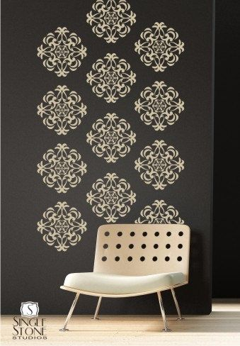Wall Decals Medallion Wall Pattern - Vinyl Stickers Art. $75.00, via Etsy.