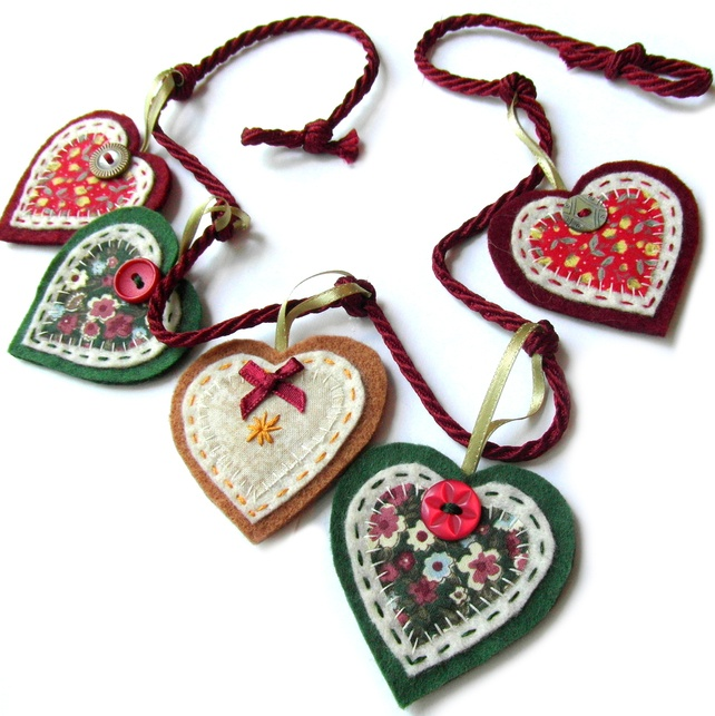 Heart Garland - Christmas Decoration £12.00