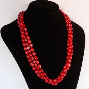 Red Coral Gemstone Neckalce
