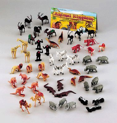 Plastic dierentuin dieren 100 stuks - EUR 11,75 +verzendkosten: EUR 6,95