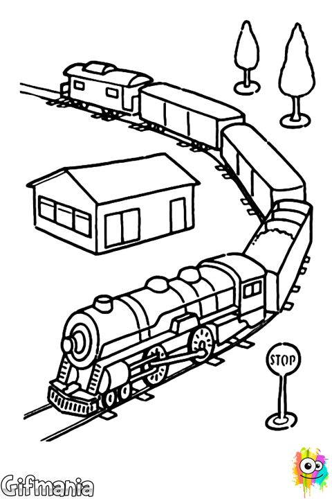 toy train coloring page eletcric train set railroad coloring bluebonkers