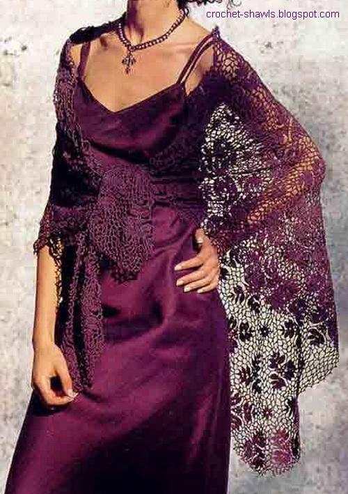 Crochet Shawls: Lace Shawl - Crochet Shawl Pattern