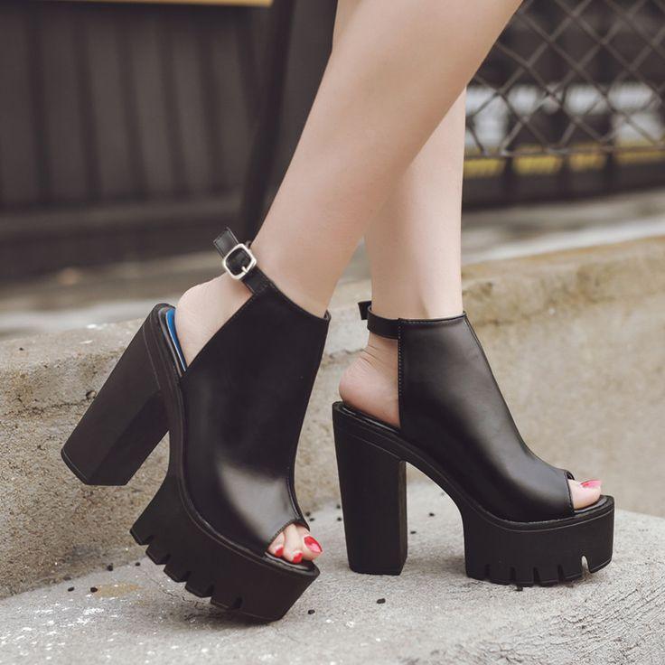 Vente chaude Européenne Femmes Chaussures Escarpins Talons hauts Sandales Plate Forme D'été Causel Chaussures pour Partie Taille 35 39 dans Femmes de Sandales de Chaussures sur AliExpress.com | Alibaba Group