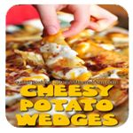 Cheesy Potato Wedges Recipe #recipe | StuckAtHomeMom.com