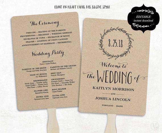 The  Best Wedding Program Templates Ideas On