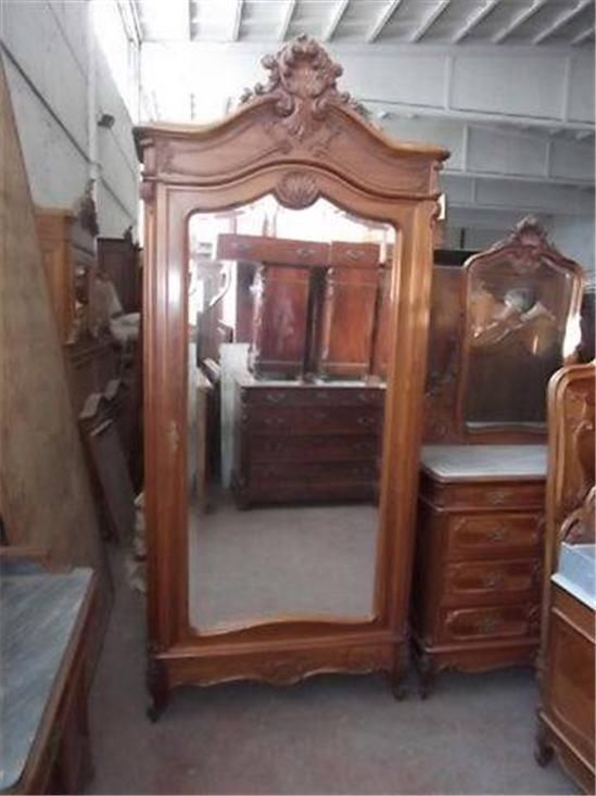 Beautiful Italian Original 1880 S Old Antique Bedroom Set Armoire 13it065a Armoires Wardrobes Home Decor
