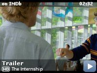 The Internship -- Two salesmen whose careers have been torpedoed by the digital age find their way into a coveted internship at Google, where they must compete with a group of young, tech-savvy geniuses for a shot at employment.