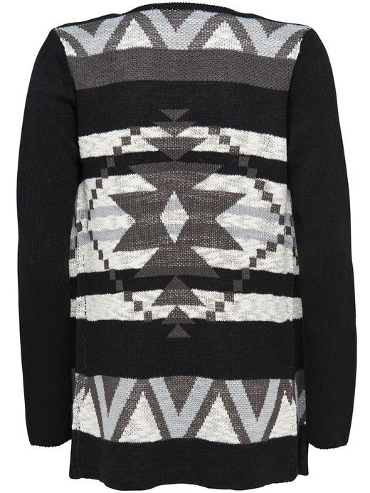 DRAPY KNITTED CARDIGAN, Black