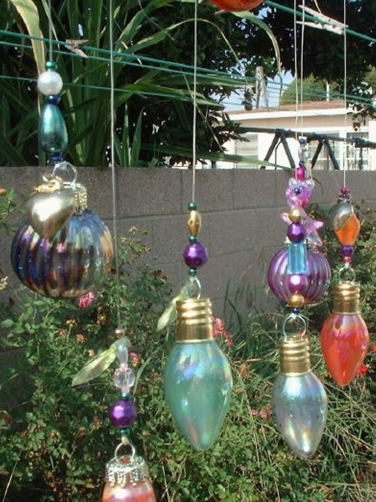 Geschilderde lampen hobby pinterest garden art and wind chimes - Geschilderde bundel ...