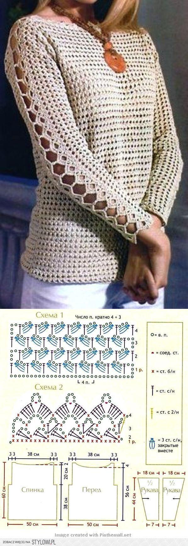 312 best stricken images on Pinterest | Crochet tops, Granny squares ...
