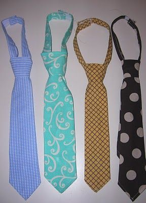 great tutorial on making ties for the little man in your life :)