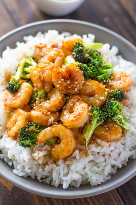Quick Honey Garlic Shrimp and Broccoli