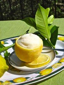 Lemon Sorbet in Frosty Lemon cup