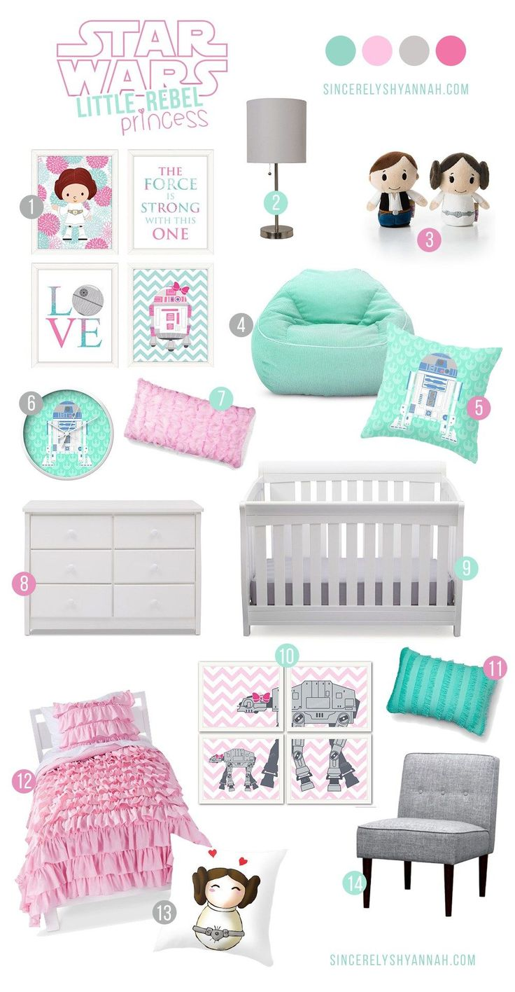 Star Wars - Teal Girl Nursery