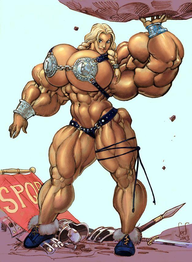 как рисованная мускулистая женщина что это