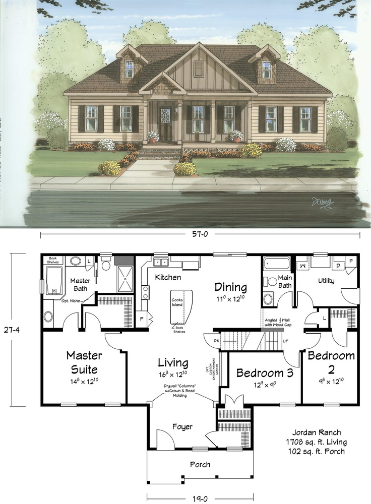 26 best Ranch Plans images on Pinterest | Floor plans, Architecture Ranch Home Designs With Va E A on