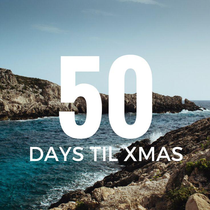 50 days till Xmas!  #xmas #holidays #2016 #holidayseason #holidays2016 #christmascountdown2016 #christmasiscoming #beach #holiday