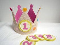 Geburtstagskrone mit 5 austauschbaren Zahlen