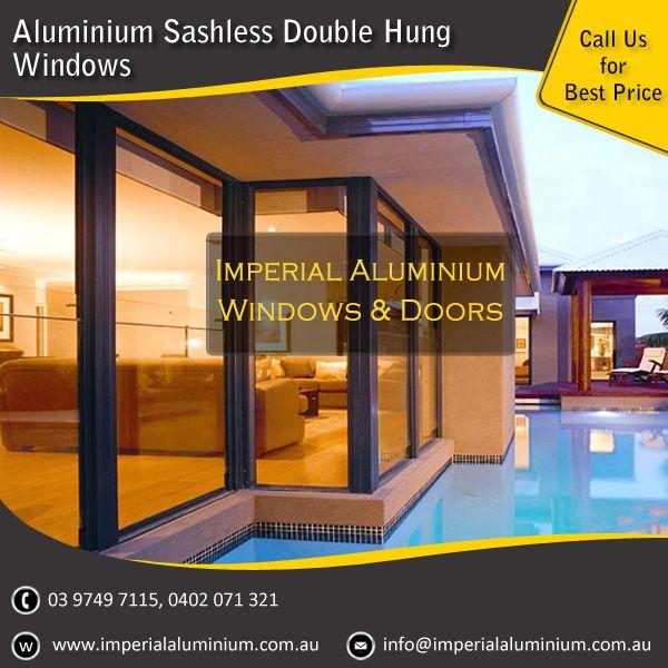 Imperial Aluminium Sashless Double Hung Window